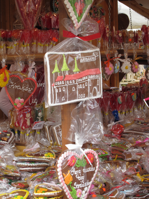 Gingerbread in Krakow marketstall