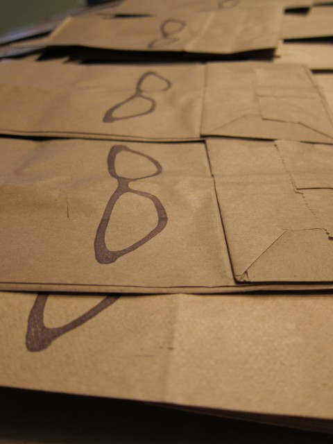 Stamped paper bags