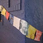 Hand-dyed prayer flags