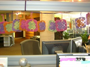 Granny squares in office