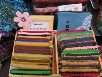 Coin purses at craft market