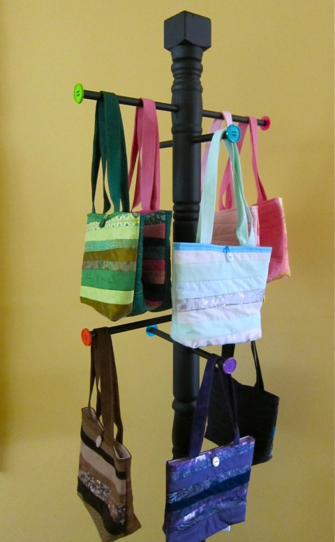 Purse display stand bubblegum sass Ideas for hanging backpacks