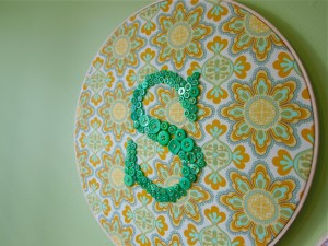 Letter 'S' Embroidery Hoop