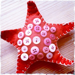 Red Button Starfish by Bubblegum Sass