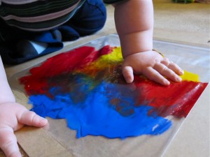 Baby finger painting 3
