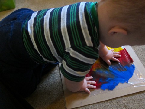 Baby finger painting 2