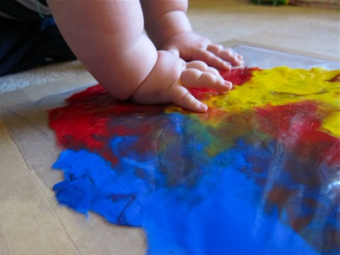 Baby finger painting 4