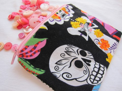 Day of the Dead Coin Purse by Bubblegum Sass