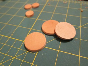Leather buttons ready for holes