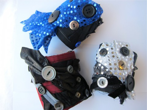 Glam Rock Upcycled Cuff Bracelets by Bubblegum Sass