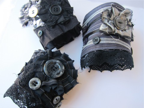 Gothic Upcycled Cuff Bracelets by Bubblegum Sass