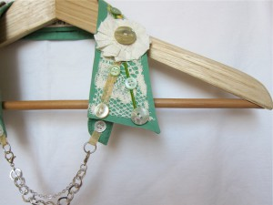 Shabby Chic Upcycled Collar by Bubblegum Sass, Sea Green