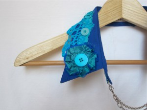Shabby Chic Upcycled Collar by Bubblegum Sass, Aqua