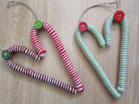 DIY candy cane ornaments by Bubblegum Sass, group
