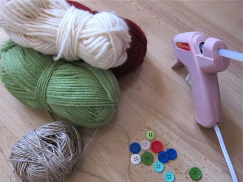 Supplies to make candy cane ornaments by Bubblegum Sass