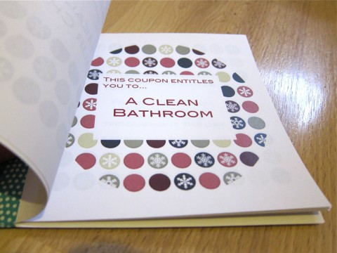 DIY Christmas Coupon by Bubblegum Sass, Clean Bathroom Page