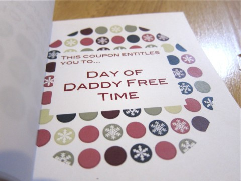 DIY Christmas Coupon by Bubblegum Sass, Daddy Free Time Page