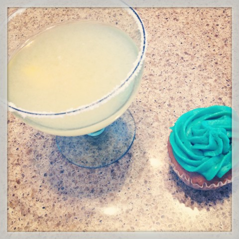 Special treats to end this busy week, margaritas and cupcakes. No complaints here (except for a pesky cold, but hopefully it got chased away by the tequila).