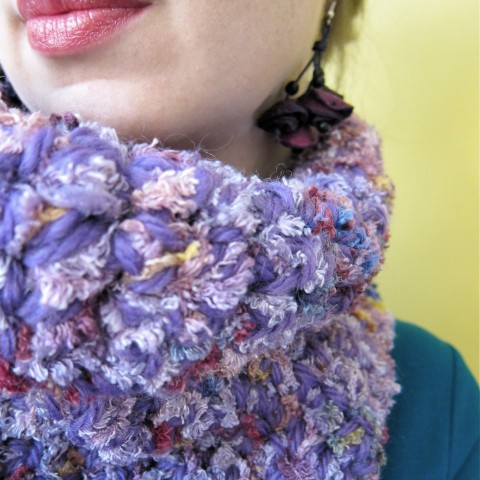 85% Wool, 15% Mohair Cowl Scarf