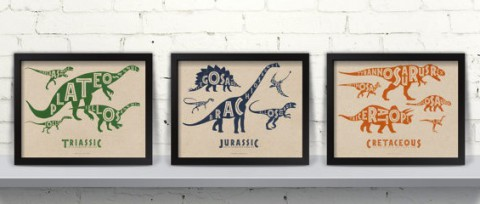 Typographic Dinosaurs From Far Sky Kids