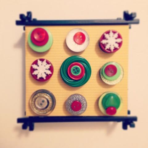 Christmas Button Magnets ~ By Bubblegum Sass