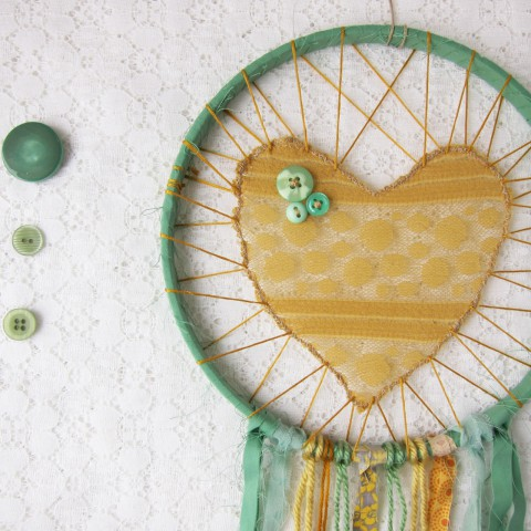 Large Green and Yellow Love Catcher ~ Bubblegum Sass