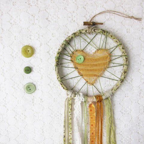 Green and Yellow Love Catcher ~ Bubblegum Sass
