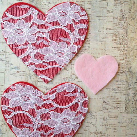 DIY Lace Heart Garland ~ Tutorial Blog Post ~ By Bubblegum Sass
