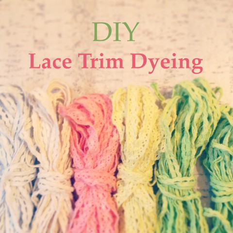 DIY Lace Trim Dyeing ~ Tutorial Blog Post ~ By Bubblegum Sass