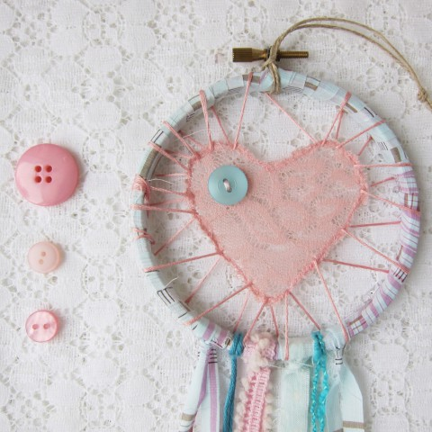 Pink and Aqua Love Catcher ~ Bubblegum Sass