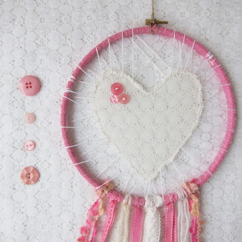 Large Pink and White Love Catcher ~ Bubblegum Sass