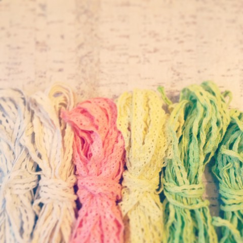 Hand Dyed Lace Trim ~ DIY Blog Post ~ By Bubblegum Sass