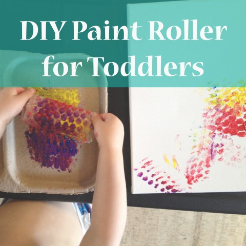 DIY Paint Roller for Toddlers ~ Tutorial by Bubblegum Sass