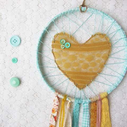 Love Catcher handmade by Bubblegum Sass ~ Etsy Shop makeover blog post ~Shabby chic home decor & accessories