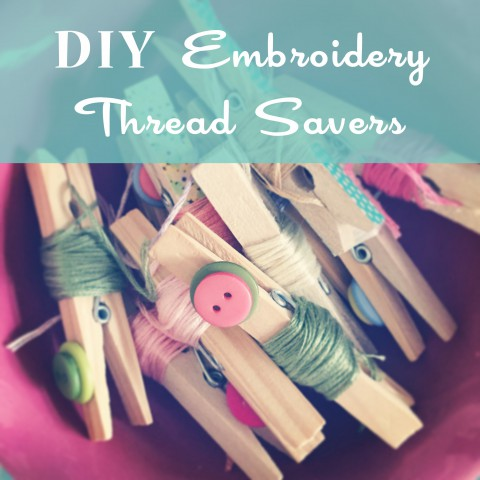 DIY Embroidery Thread Savers ~ Blog Tutorial by Bubblegum Sass ~ Washi Tape & Button Crafts