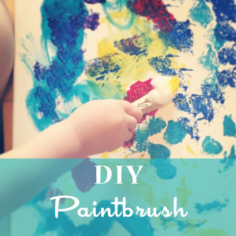 DIY Paintbrush for Kids ~ Clothespins & Cotton Balls ~Blog Tutorial by Bubblegum Sass