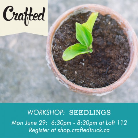 Workshop: Seedlings ~ From Crafted Artisan Truck ~ Workshop led by Marcus of Happiness By The Acre ~ Register Today