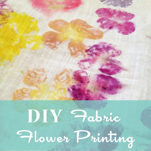 DIY Fabric Flower Printing ~ blog post tutorial by Bubblegum Sass