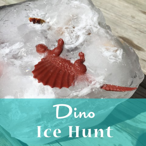 Dino Ice Hunt ~ Summer Outdoor Activity for Kids ~ By Bubblegum Sass