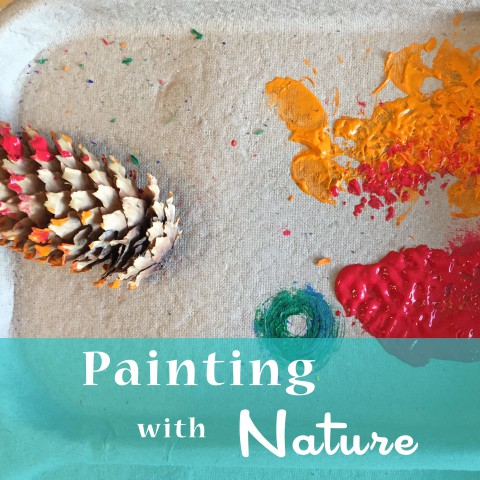 Painting with Nature ~ Activities for Preschoolers ~ By Bubblegum Sass
