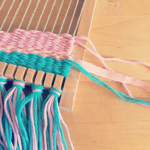 In the Studio: Weaving ~ Bubblegum Sass blog post ~ loom weaving hobby