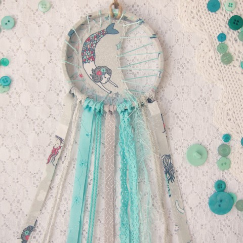 In the Shop: Mermaid Dreams ~ Blog post by Bubblegum Sass ~ Mermaid Dreamcatchers for nursery decor