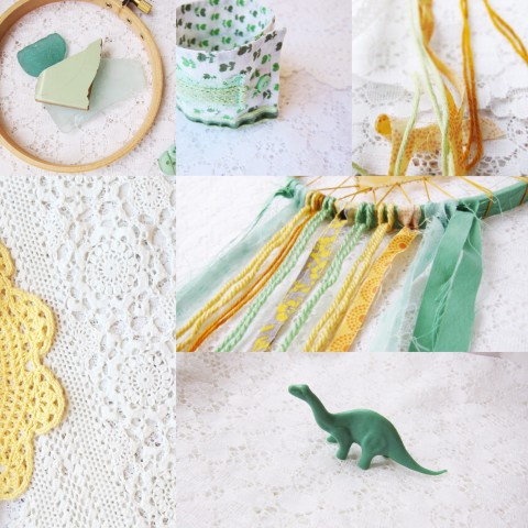 Weekly Color Inspiration ~ By Bubblegum Sass ~ Spring Green & Yellow