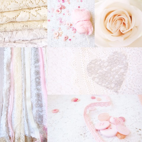 Weekly Color Inspiration ~ By Bubblegum Sass ~ Dreamy Pink, Cream & Grey