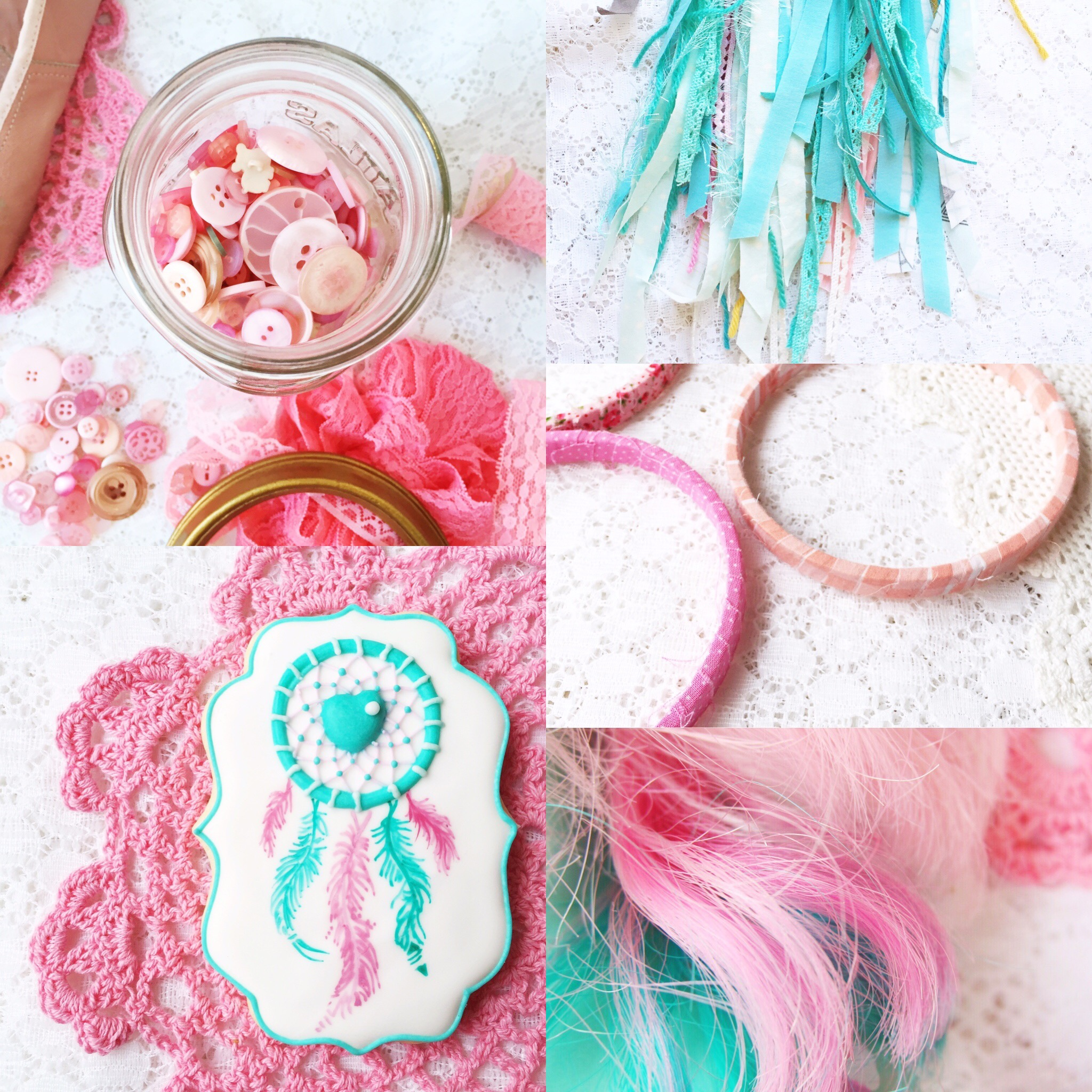 Weekly Color Inspiration ~ By Bubblegum Sass ~ Pink & Turquoise ~ Color board, mood board