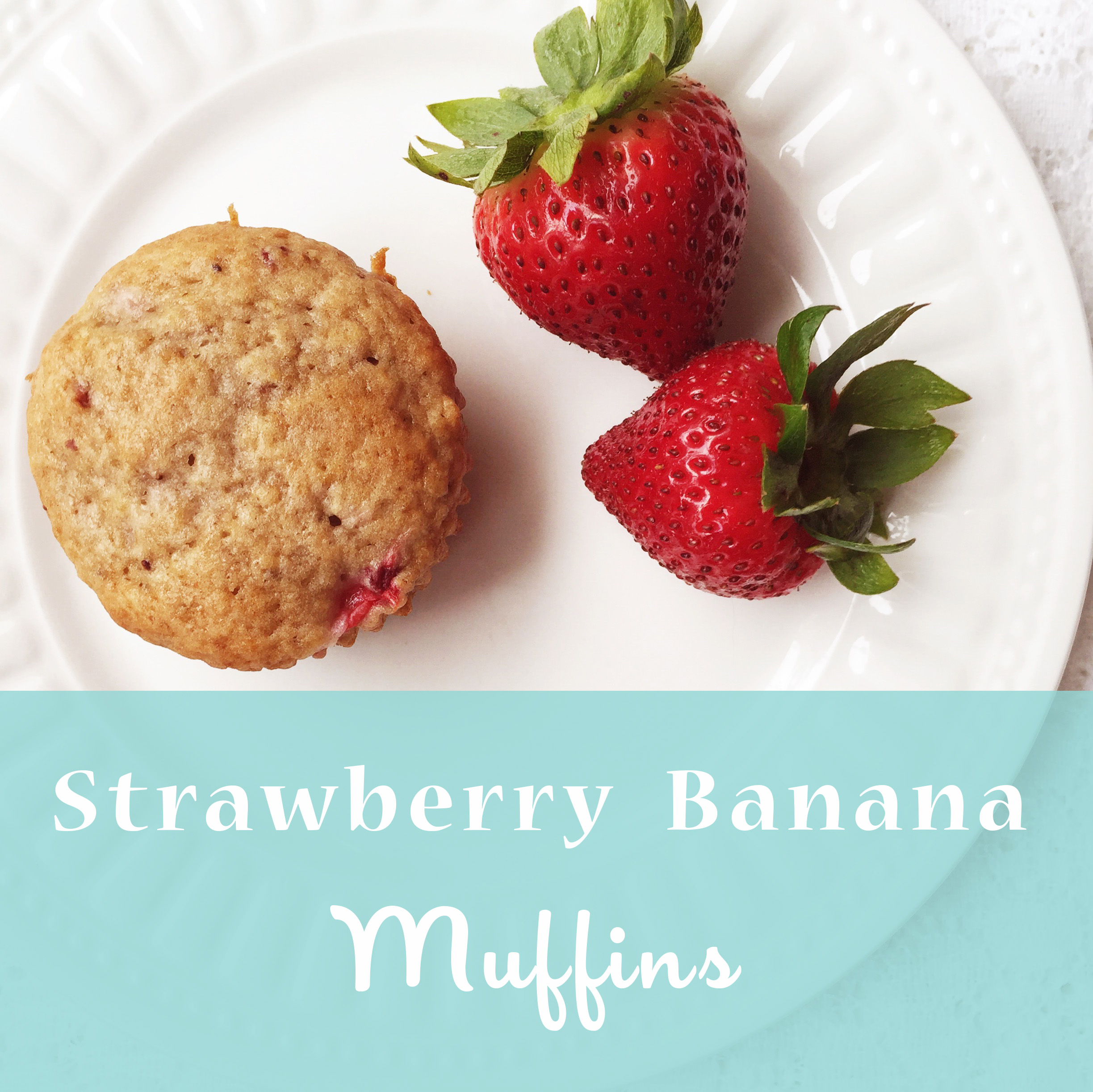 Strawberry Banana Muffins ~ recipe by Bubblegum Sass ~ tasty summer snacks
