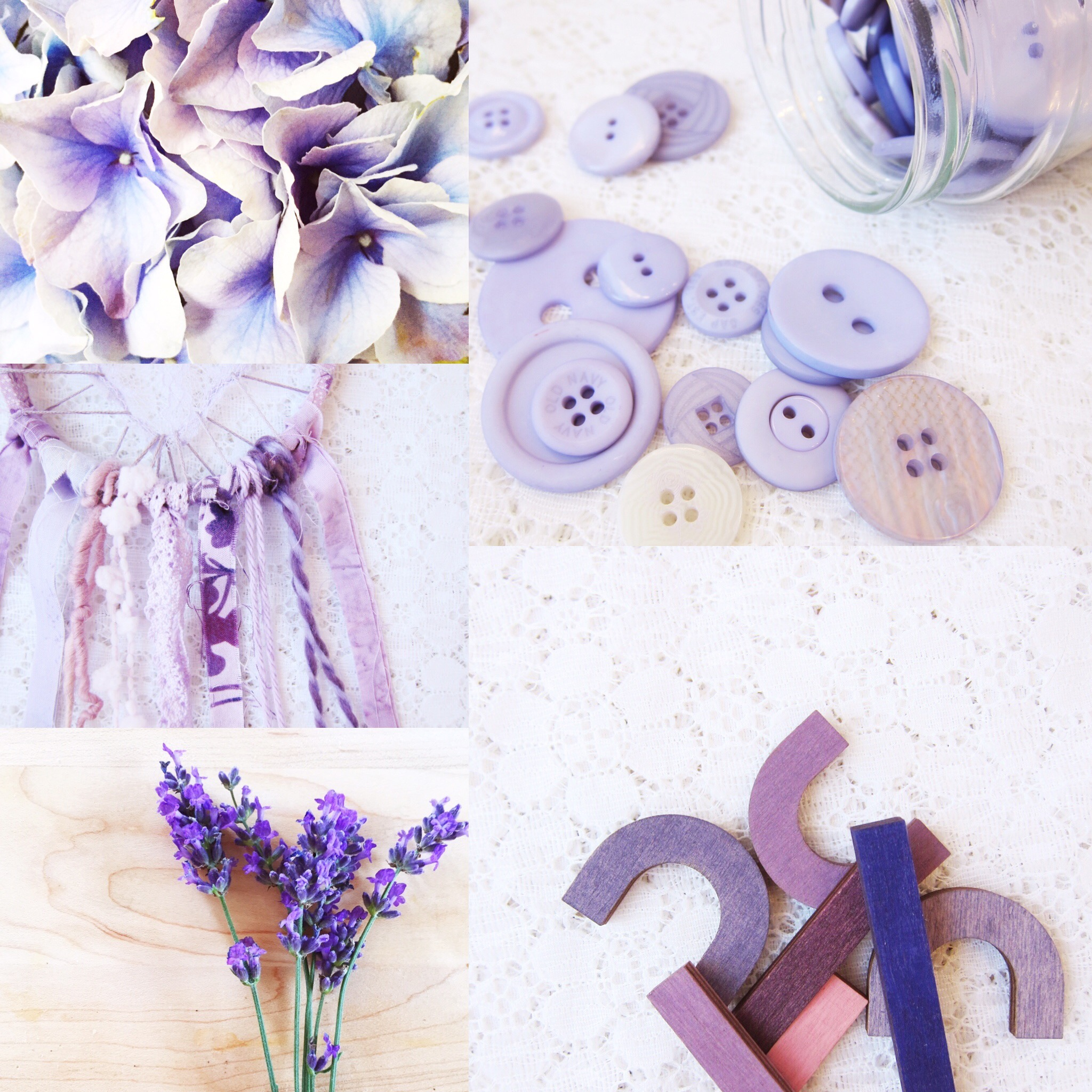 Weekly Color Inspiration ~ By Bubblegum Sass ~ Shades of Purple ~ Nursery room decor inspo