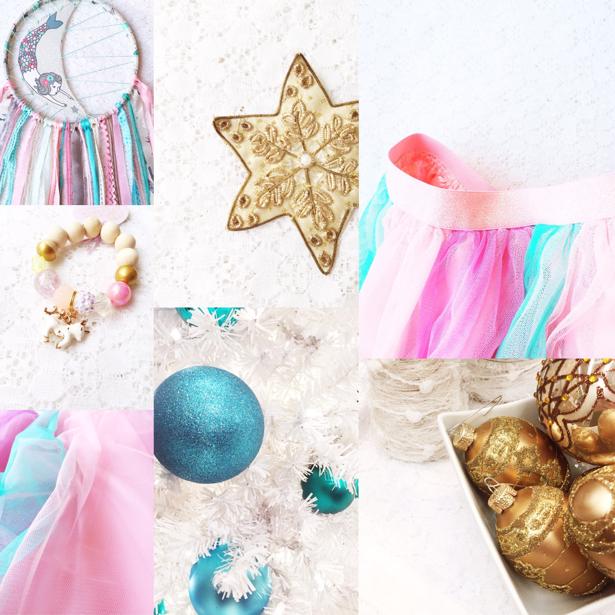 Weekly Color Inspiration ~ By Bubblegum Sass ~ Magical & Festive Turquoise & Gold ~ Nursery & Christmas Home Decor & Inspo