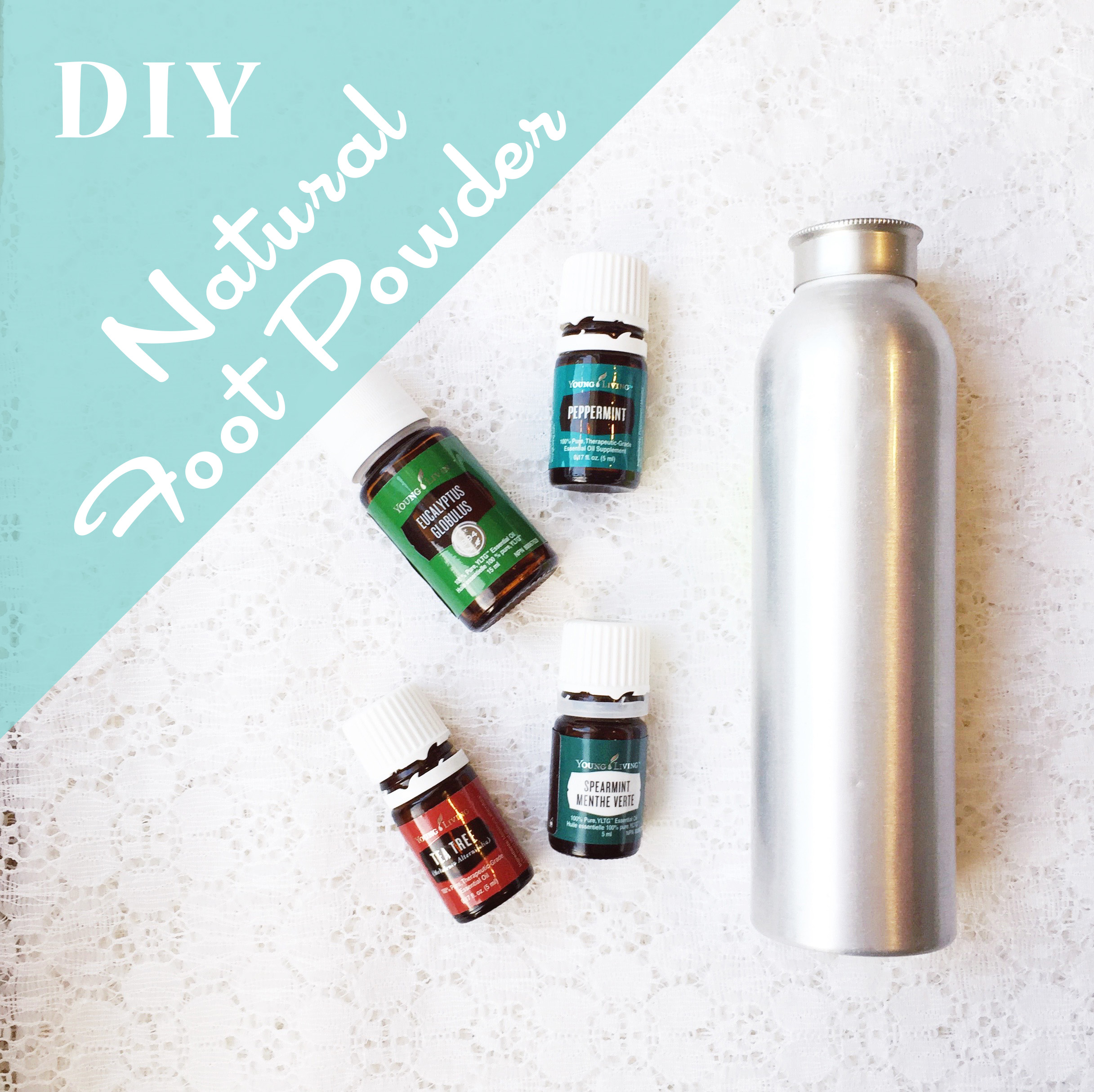 Santa's Workshop: DIY Natural Foot Powder ~ Essential Oils ~ by Bubblegum Sass