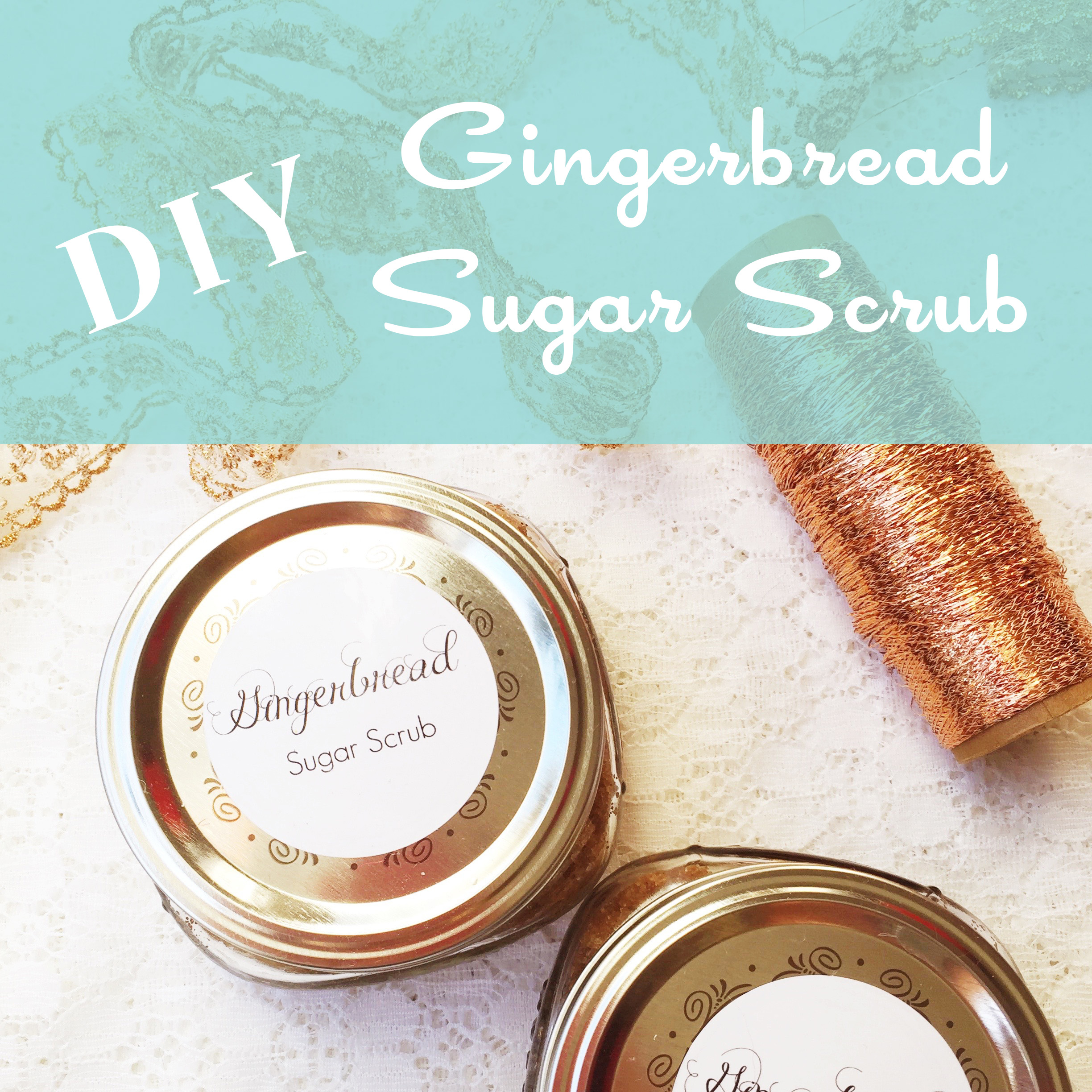 Santa's Workshop: DIY Gingerbread Sugar Scrub Recipe ~ Essential Oils ~ by Bubblegum Sass